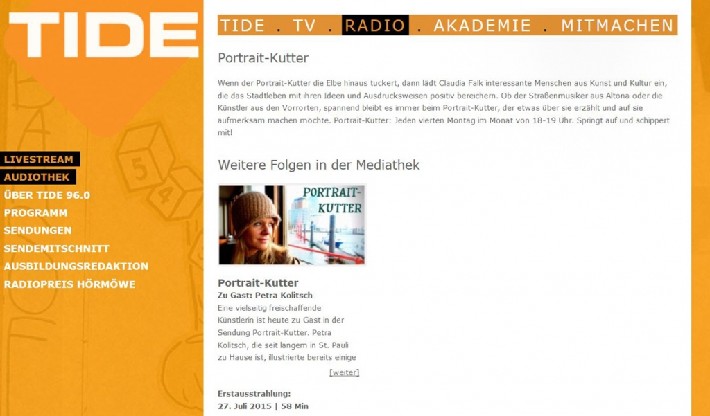 TIDE-Radio-Sendung-Portrait-Petra-Kolitsch-Interview-